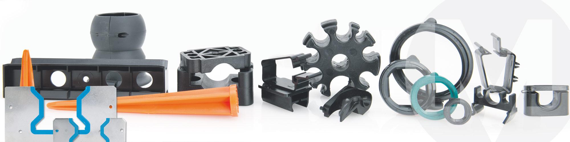 Kunststoff-Spritzteile und umspritzte Metallkomponenten